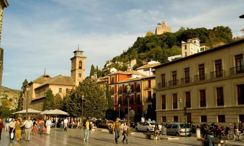 Granada--Plaza-nueva-(fondo-iglesia-de-San-Gill)-copia